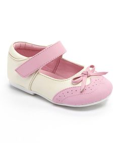 Look at this Modit Beige & Pink Oxford Mary Jane on #zulily today!