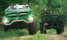 Images: Unimog - future meets past-Bilder: Unimog – Zukunft trifft Vergangenheit Horror mixes with enthusiasm: Mercedes is giving the Unimog a design study that is free of usefulness for its birthday. The original Unimog from 1951 shakes. Mercedes Benz Unimog, Autos Mercedes, Bmw Autos, Mercedes Truck, Cool Trucks, Cool Cars, Automobile, Bug Out Vehicle, Pt Cruiser