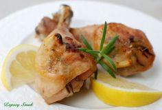 Udka kurczaka pieczone z cytryną