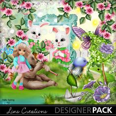 Hellospring1 Hello Spring, Paint Shop, Digital Scrapbooking, Photoshop Elements, Photo Book, Tinkerbell, Design Elements, Seasons, Boys