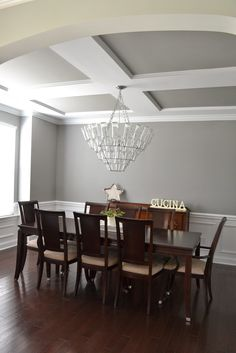 Sherwin Williams Dorian Graylooks great with the white