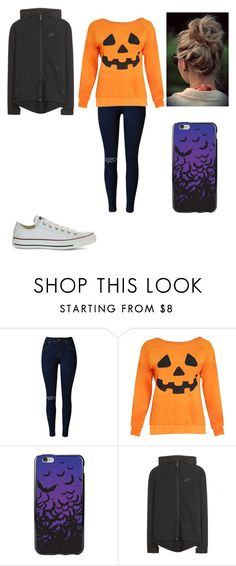 """""""Halloween look 2"""" by merel-meuleman ❤ liked on Polyvore featuring NIKE and Converse"""