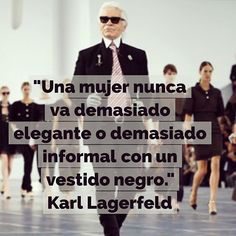 Un look con el que acertar siempre #frases #karllagerfeld #ootd #dress #quotes #frasedeldía #citas #elegancia #vestido #blackdress Fashion Words, Fashion Quotes, Fashion Tips, Women's Fashion, Karl Lagerfeld, Thank You God, Jewelry Quotes, Insta Posts, Instagram Quotes