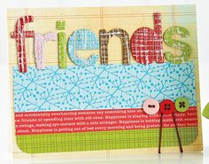 Colorful Friends Card by @Teri Anderson