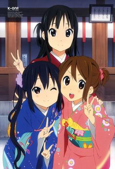 (back) Mio, (front) Azusa, Yui | K-On! #anime