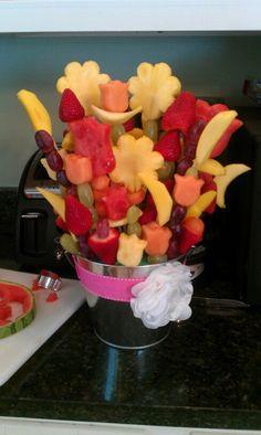 My fruit arrangement from my bridal shower.