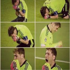 Iker Casillas--this man's overt emotionality and undeniable beauty inspired quite a few fantasies a few years back…
