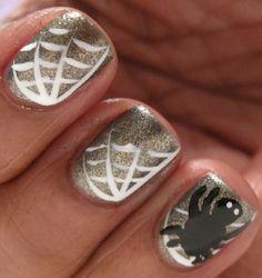 spider nail art @OPI Nail