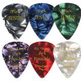 i Pick Jesus Guitar Picks - Medium - 12 Pack - Celluloid - Assorted Colorful Set - Best Gifts for Guitarists, Worship Team, Christian Ministry, Jewelry Crafters - Great Cool Presents for Christmas, Birthdays - For Adults, Teens, Kids, Girls and Guys / http://www.contactchristians.com/i-pick-jesus-guitar-picks-medium-12-pack-celluloid-assorted-colorful-set-best-gifts-for-guitarists-worship-team-christian-ministry-jewelry-crafters-great-cool-presents-for-christmas-bi/