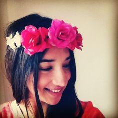 Flower crowns, flor de vincha, vinchas de flores, summer, fun, colors, flowers