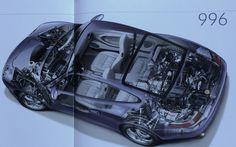Porsche 911 996 cutaway