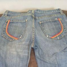 Paper denim and cloth straight leg Straight leg. Distressed. Unaltered. Light blue no stains. Little wear on the back hems Paper Denim and Cloth Jeans Straight Leg