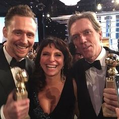 "susannebier: ""What a night!! So incredibly proud of you @twhiddleston @hugh_laurie_official and #OliviaColman (we missed you!!) ❤️ #goldenglobes #thenightmanager (Regram @novafmdk)"""