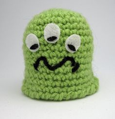 Items similar to Green Monster Crochet on Etsy Green Monsters, Crotchet, Beanie, Trending Outfits, Unique Jewelry, Hats, Handmade Gifts, Vintage, Fashion