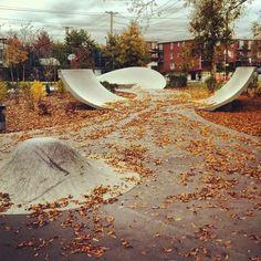 Autumn makes skate scenery amazing