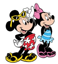 Mickey Mouse and minnie Clip Art | Mickey's Pals | Black 'n' White | Disney Babies | Pooh's Hundred Acre