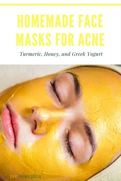 Turmeric Face Masks for Acne Natural DIY Homemade Face Masks to Cleanse your Skin Here are some best ways of applying face masks to cleanse your skin and thereby to clear acne and its scars. #DIYRemedies