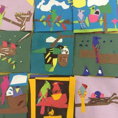 Charlie Harper Collaged Birds - 3rd Grade - Young Art Love