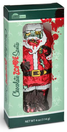 I bet my nephews would love this. Christmas Stocking Stuffer Gifts for the Teen Guy:  Chocolate Zombie Santa @ Think Geek