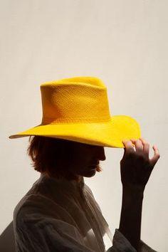 Clyde Pinch Panama Hat in Marigold | Oroboro Store | New York, NY
