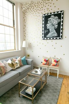 Ruth Allen's New England Home Tour #theeverygirl dots could be cool in Walker's new room