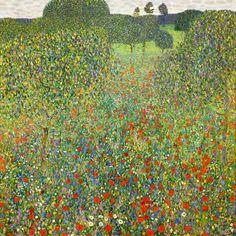 Gustav Klimt - Pradera de amapolas