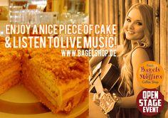 Genießt den Abend!  Am besten bei uns im  Fresh Bagels & Muffins zu #LiveMusic und leckeren #bagels & #sweets :-)  #OpenStage Event im #bagelshop  www.bagelshop.de