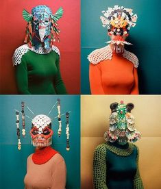 Mask melds – Cosplay meets avatar meets concealed identity in an age of privacy concerns. From opera posters to MacDonalds ads, this trend is popping up everywhere. Textiles, Arte Peculiar, Kreative Portraits, Foto Fashion, Illustration Mode, Club Kids, Masks Art, Art Plastique, Costume Design