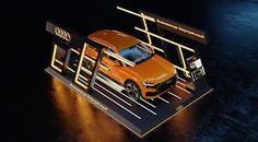 Audi Exposition on Behance Audi Motor, Car Expo, Golf Theme, Audi Sport, Audi Cars, Bmw X3, Exhibition Space, Facade Design, Luxury Decor