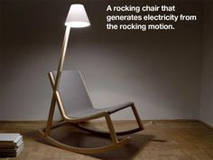 Murakami Concept Rocking Chair Features Kinetically Powered OLED Reading Light