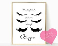 lashes printable, lashes wall art, digital download, lashes print, eyelashes printable, gifts for her, eyelashes print, wall art, wall decor