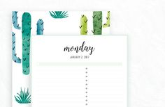 FREE PRINTABLE IRMA 2017 DAILY PLANNER