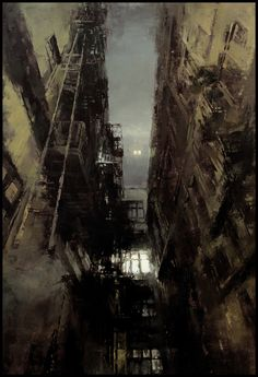 The Traditional Work of Jeremy Mann - Cityscapes