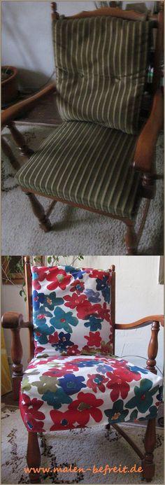 Stuhl vorher-nachher was so ein bisschen Stoff doch für einen Unterschiede machen kann