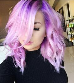 22 Visualy Stimulating Crazy Hair Color Ideas - All Day Fash Bright Hair, Pastel Hair, Purple Hair, Ombre Hair, Turquoise Hair, Neon Hair, Violet Hair, Purple Lilac, Pink Color