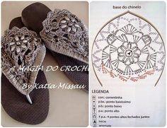 Paa el calzado a crochet Diy Crochet Shoes, Crochet Shoes Pattern, Crochet Diy, Crochet Sandals, Crochet Basket Pattern, Crochet World, Crochet Gloves, Crochet Slippers, Crochet Patterns