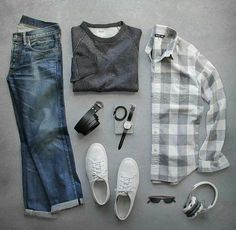 Gray large scale gingham