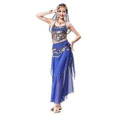 Performance bellydance Costume for Women Bollywood Dance Costumes Dance Costume, Indian Saris Belly Dance Outfit, Belly Dance Costumes, Dance Outfits, Dance Dresses, Dance Fashion, Fashion Dresses, Halter Tops, Bollywood Dance Costumes, Great Costume Ideas