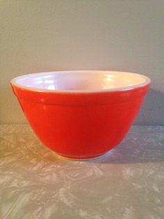 Vintage Pyrex, Autumn Harvest, Cinderella Mixing Bowl, 1979 dark red ...