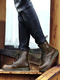 Back To Search Resultsshoes Vogue Fashion Leather Men Boot Shoes Nice Lace-up Marting Boots Motorcycle Boots Men Advisable Work Shoes For Men Do You Want To Buy Some Chinese Native Produce?