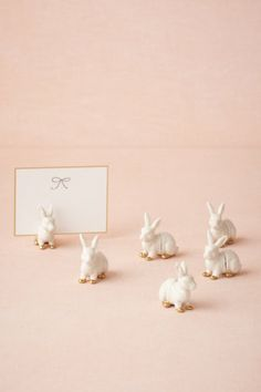 It's all in the details - Bunny Place Card Holders in Décor Table Signage at BHLDN Decoration Table, Centerpiece Ideas, Centerpieces, Happy Easter, Easter Bunny, Party Planning, Party Time, Our Wedding, Dream Wedding