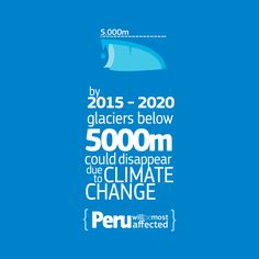 Peru is a mountainous country containing 71% of the worlds tropical glaciers. Climate change would have a great impact.