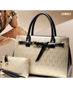 Tas Import  ( 2 in 1 ) BT4708-GOLD Grosir Tas Import Terbaru 2015 Merek Berkualitas OEM ~ 100% IMPORT HIGH GRADE BAG ( 2 in 1 ) Material :  PU leather Length:        32 cm Height:        24 cm Depth:           15 cm  Bag Mouth:    Zipper       Long Strap:     yes 1  kg   ..