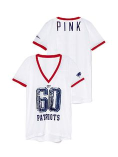 ... Tailgating New England Patriots Bling Mesh Jersey Bling VICTORIA SECRET  PINK ... ae27d2256