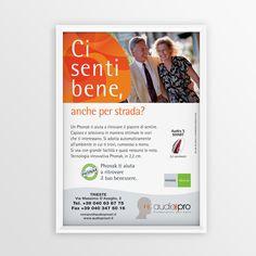 "Print advertising for Phonak ""Ci senti bene..."" #creative #design #adv www.gioart.com"