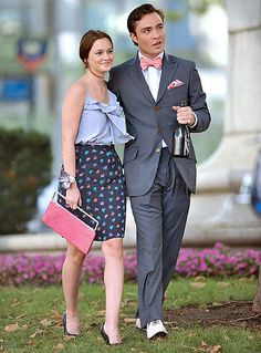 Their outfits, them, its all perfection. Chuck Bass and Blair Waldorf!