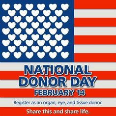 February isn't just Valentine's Day, it's National Donor Day! Are you registered as an organ, eye and tissue donor? Pulmonary Fibrosis, Cystic Fibrosis, Pulmonary Hypertension, Kidney Donor, Organ Donation, Incredible Gifts, Peace On Earth, Kidney Disease, Kidney Cancer