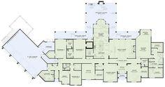 European Style House Plan - 5 Beds 5.5 Baths 7784 Sq/Ft Plan #17-2462 Floor Plan - Main Floor Plan - Houseplans.com