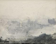 """Barometer,"" 1992, Helen Frankenthaler. Acrylic on canvas, 54¼ × 69½ in."