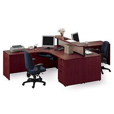 1000 images about two person office desks on pinterest - Office table for two person ...